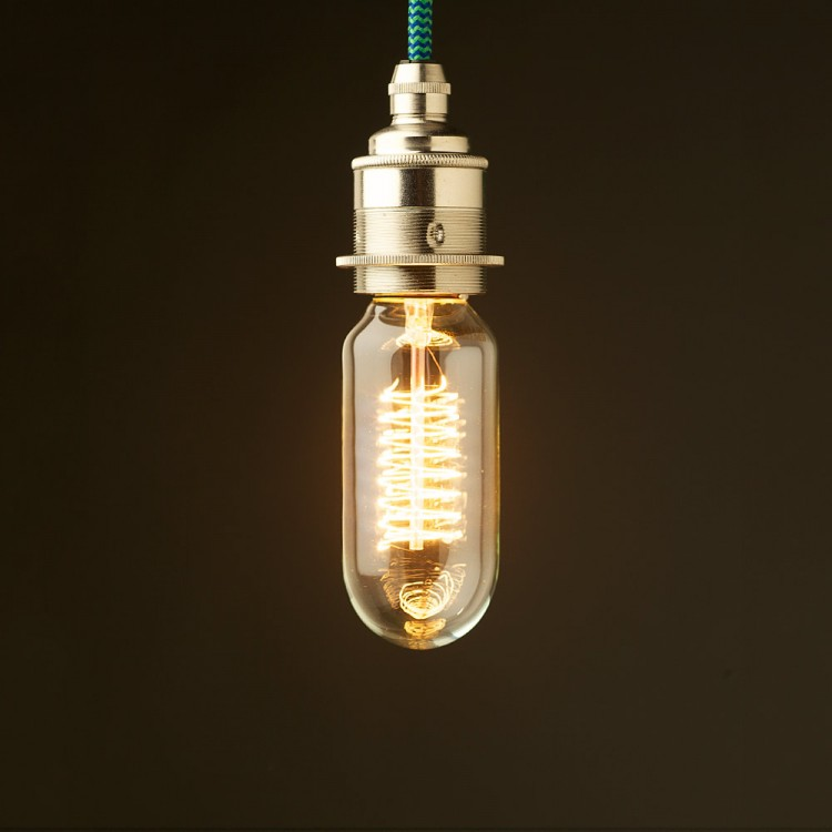 Edison style light bulb E27 nickel fitting