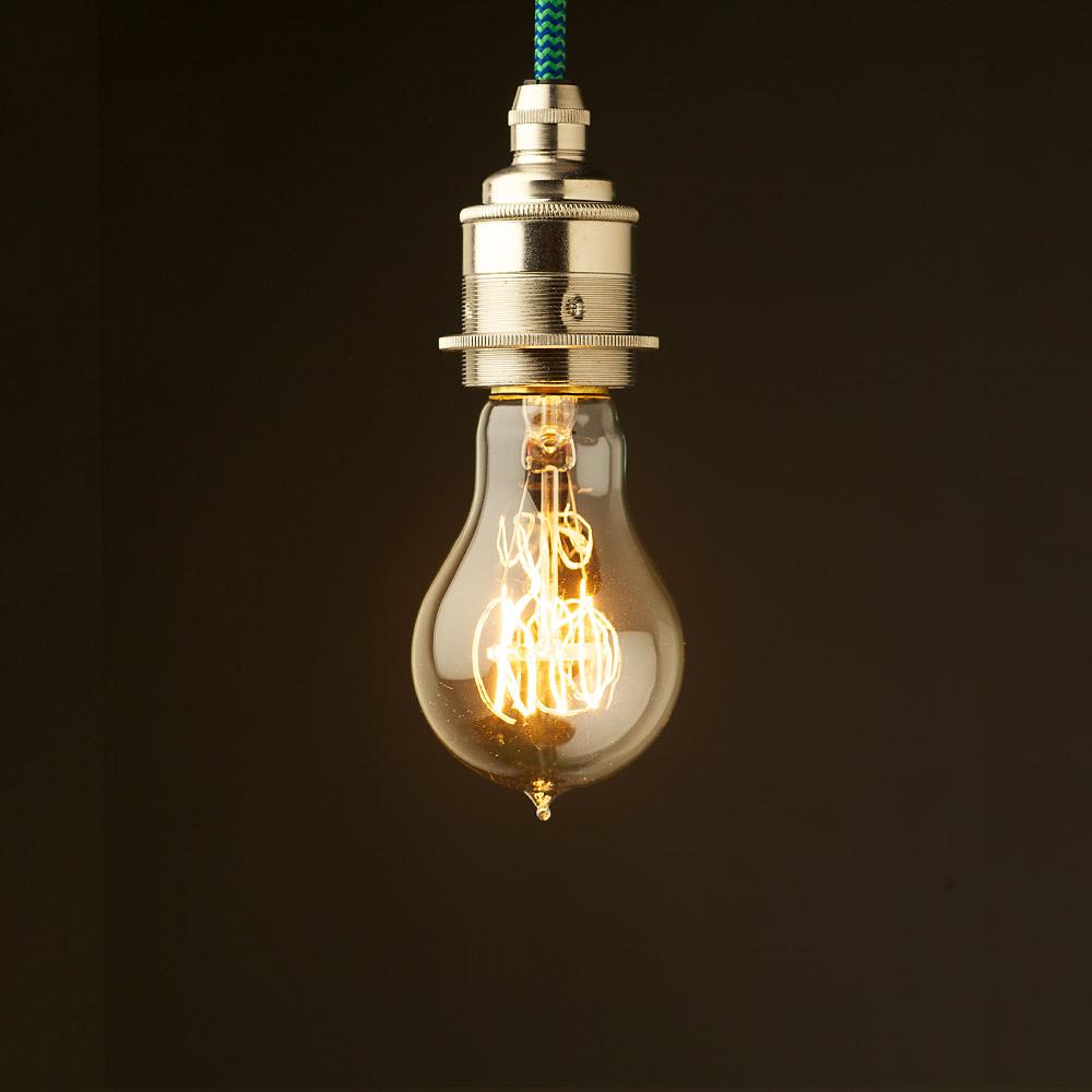 Edison Style Light Bulb E27 Nickel Fitting