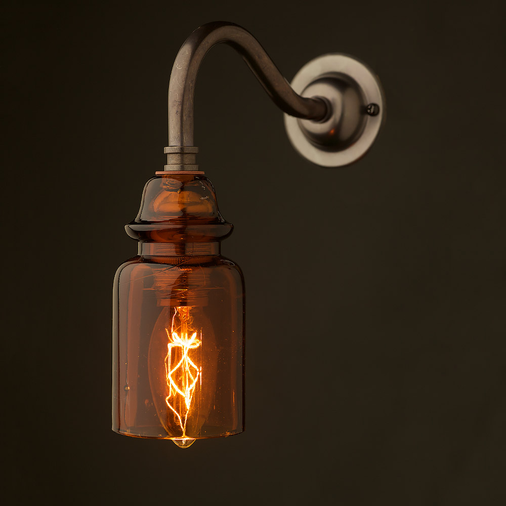 Fitting Wall Lights With No Earth : Brass Coventry Wall Insulator No430 Amber