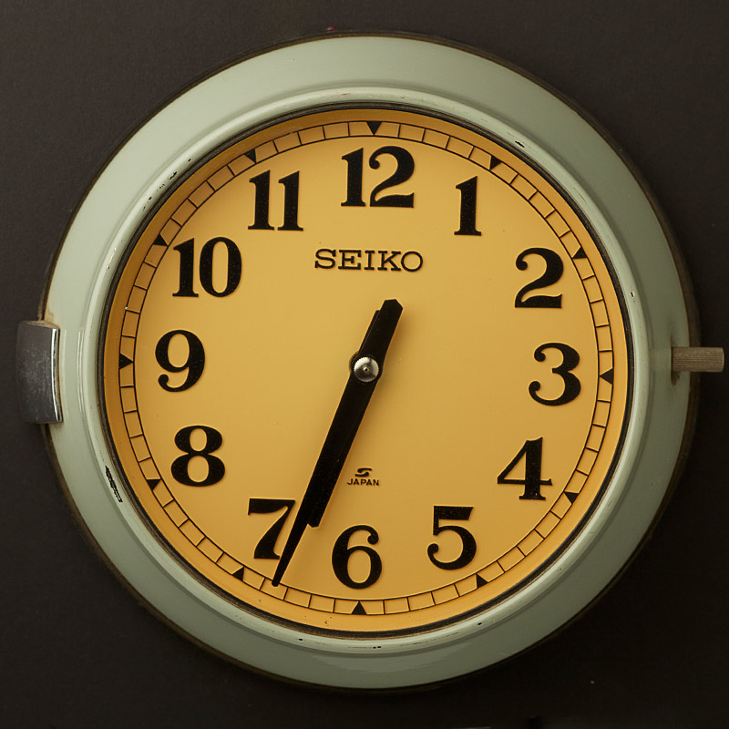 Vintage ship s seiko wall clock