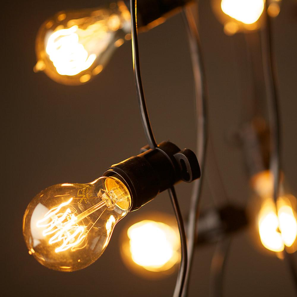 vintage string lights. Black Bedroom Furniture Sets. Home Design Ideas
