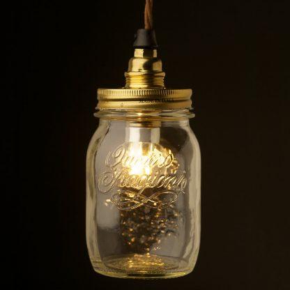 Preserving Jar Brass E14 pendant