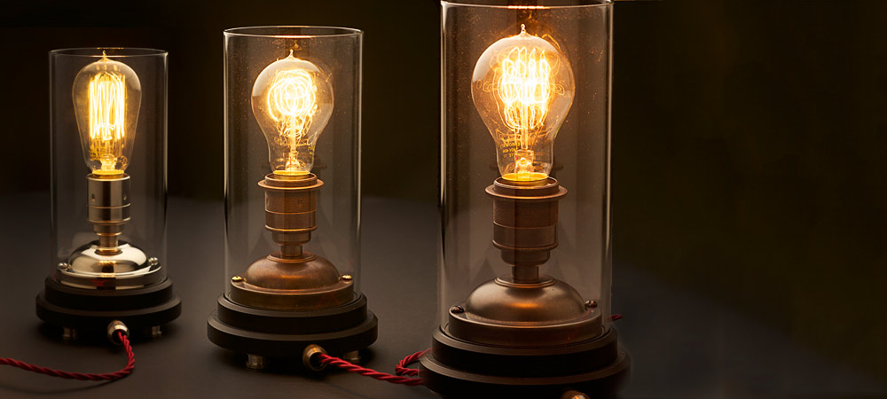 Tube Glass Table Lamps
