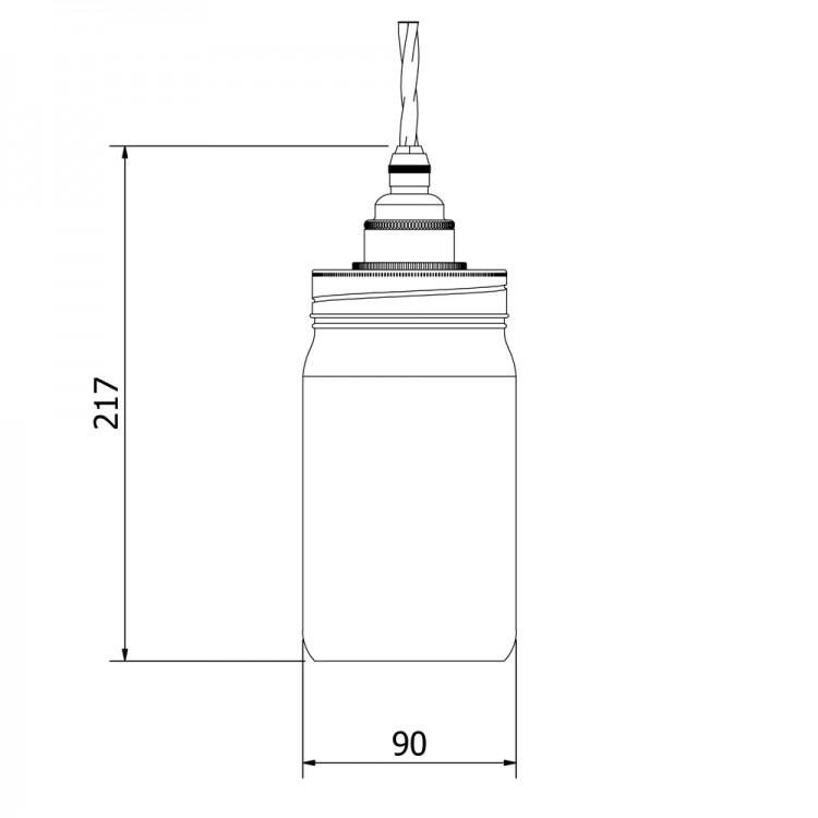 Widemouth Preserving Jar E27 pendant