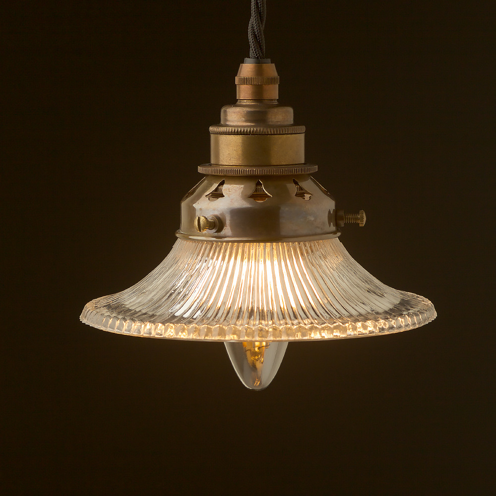 Small holophane flat glass light shade pendant mozeypictures Image collections