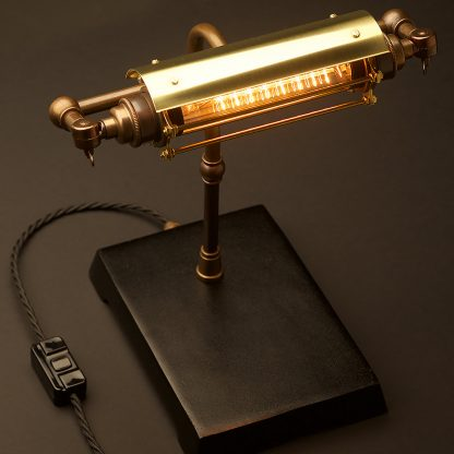 Vintage BrasVintage Brass Steampunk Banker Table Lamps Steampunk Banker Lamp