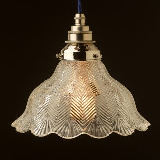 Holophane pattern glass light shade pendant