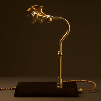 New Brass Steampunk Banker Table Lamp side