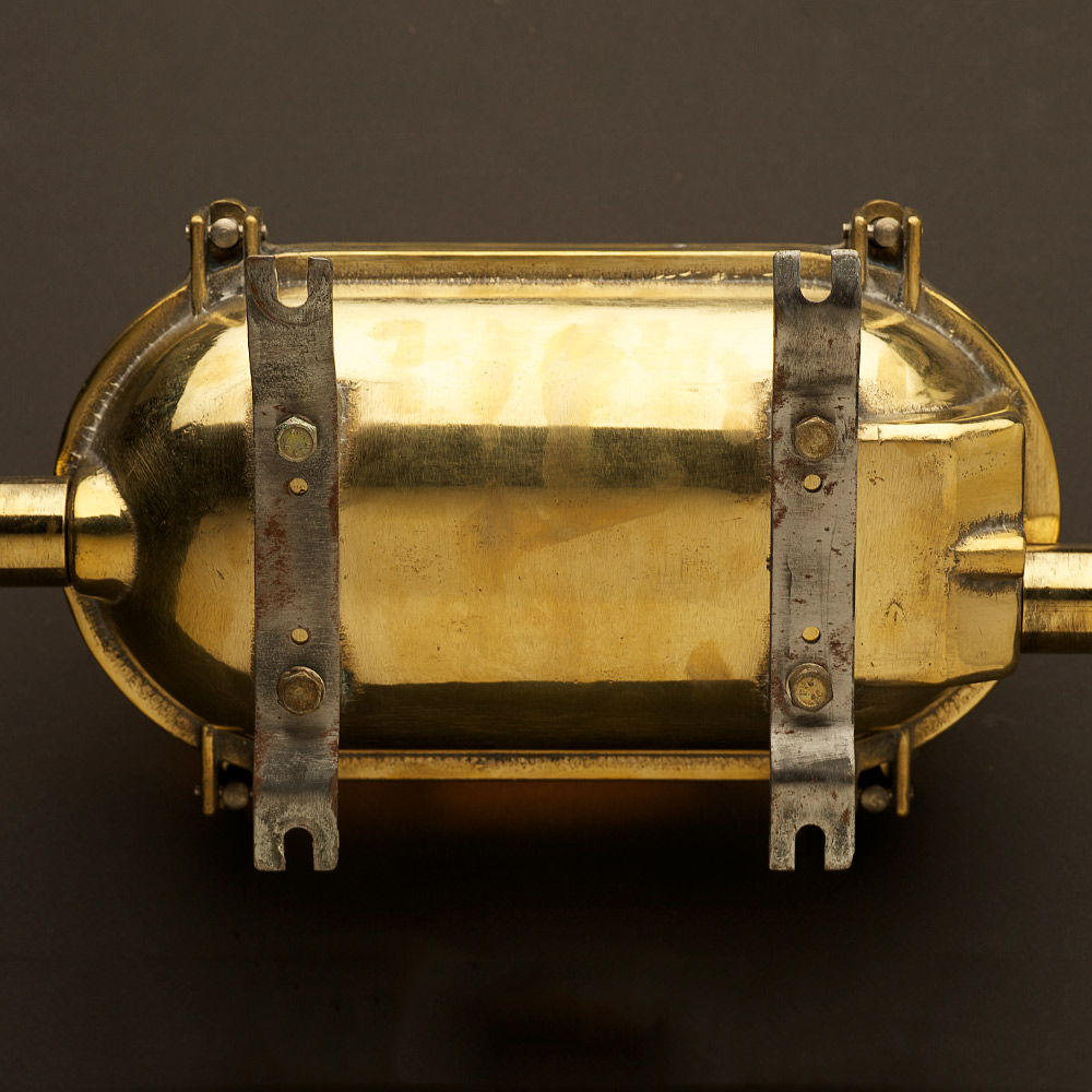 Brass Ships Oval Caged Bulkhead Light Edison Light