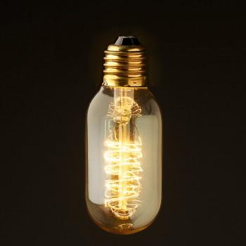 Vintage Edison Spiral tube filament bulb
