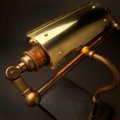 Vintage Brass Steampunk Banker Table Lamp