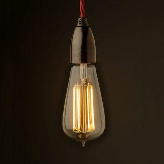 Edison style light bulb Contemporary Bakelite fitting ST64 LED globe
