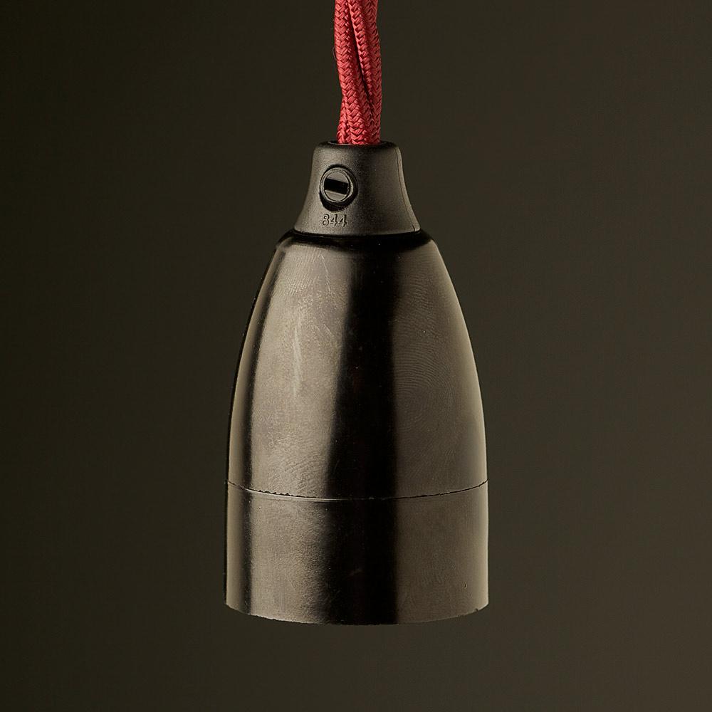 Bakelite Contemporary Lampholder Edison E27 Fitting