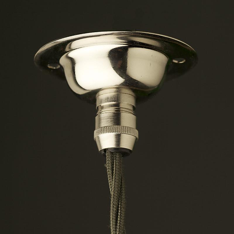 Ceiling Rose With Light Bulb Fitting : Art deco aluminium disc light pendant