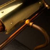 Vintage Brass Steampunk banker lamp
