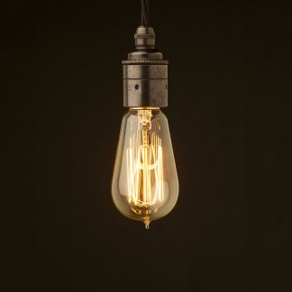 Edison style light bulb E27 Smooth Bronze fitting