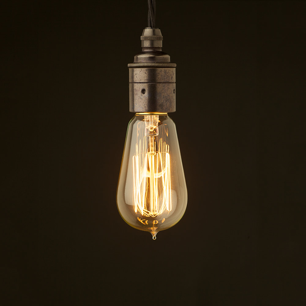 style light bulb E27 Smooth Bronze fitting