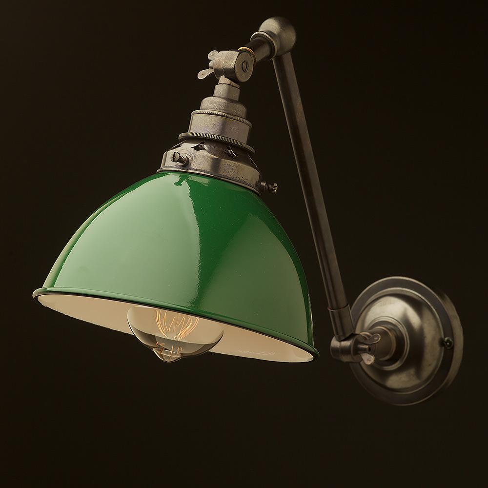 Bronze Adjustable Arm Wall Mount Shade • Edison Light Globes Pty Ltd