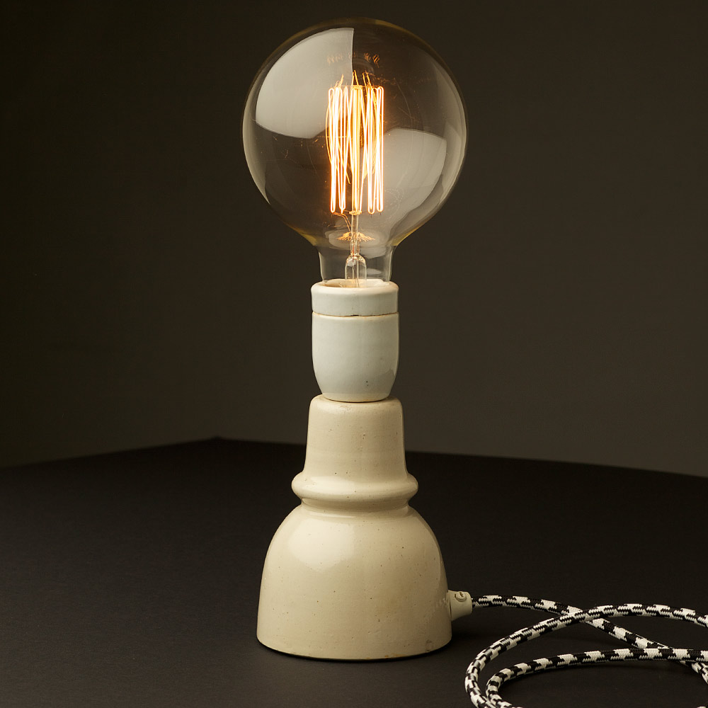 Vintage Ceramic Insulator Lamp