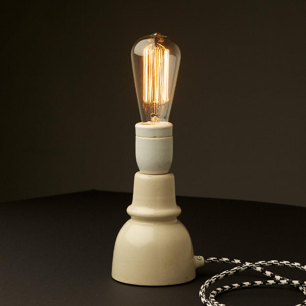 Vintage Ceramic Insulator Lamp