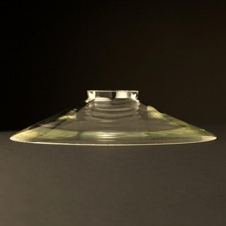 Clear Glass Flat Dish 220mm