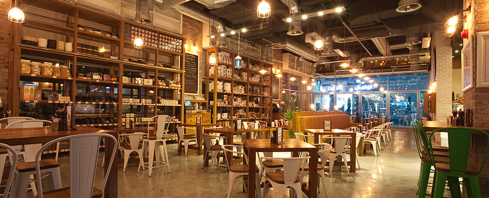 Pantry Cafe Wasl Square Dubai go industrial