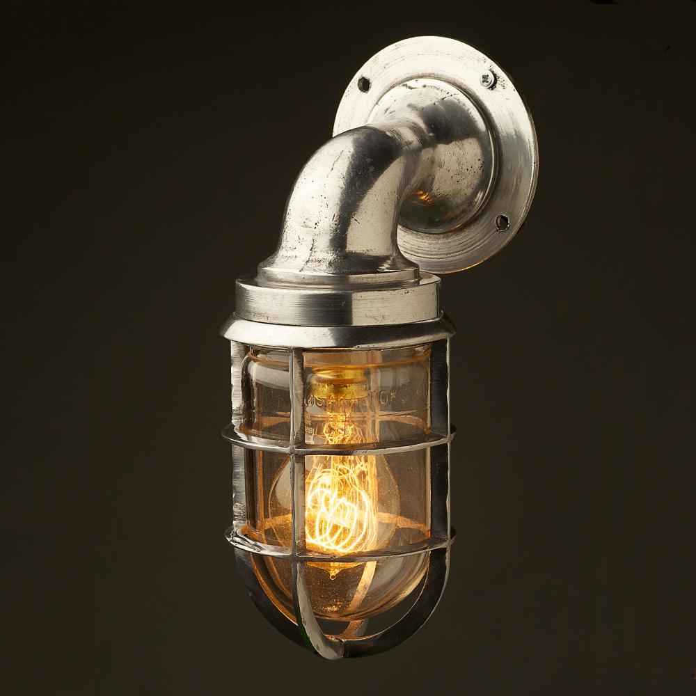 Vintage Ship Aluminium Bulkhead Wall Light