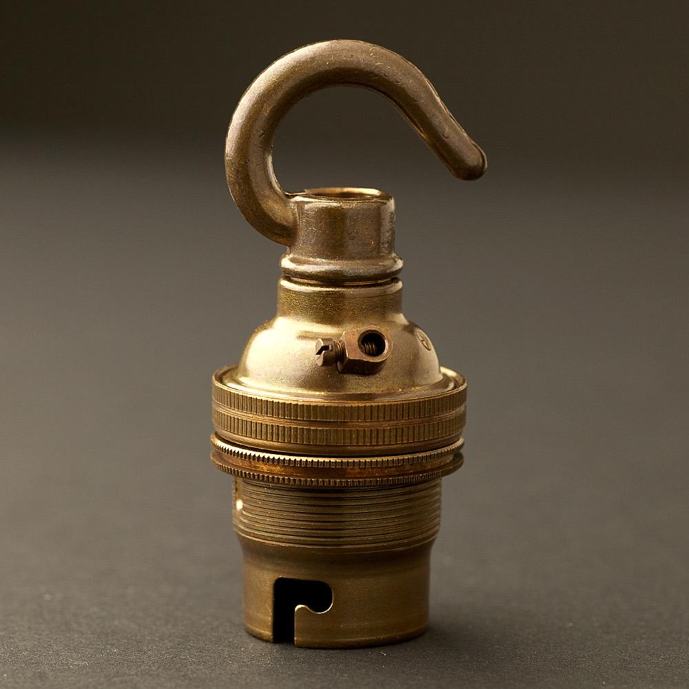 Hook pendant lampholder bayonet b22 fitting brass hook pendant lampholder bayonet b22 fitting mozeypictures Images