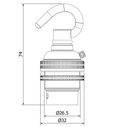 Brass-Hook-Pendant-Lampholder-Bayonet-B22-fitting