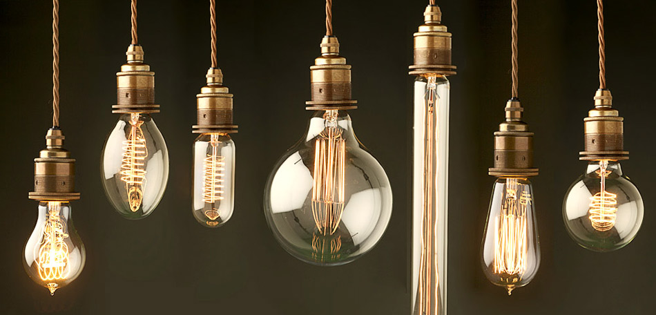 Edison Light Globes Industrial 19th Century Thomas