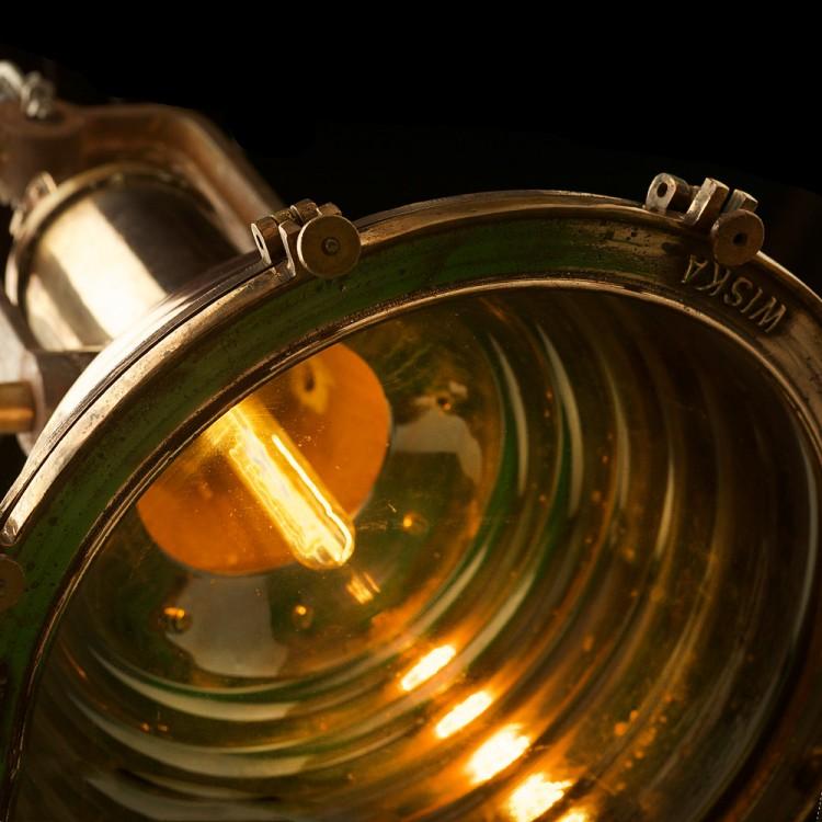 Large Vintage Brass ships deck light