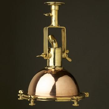 Small Vintage brass ships deck light