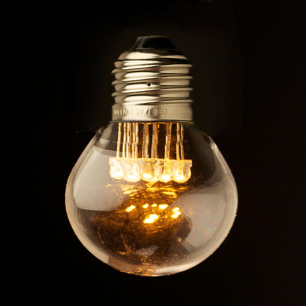 240V Fancy Round 5W LED Warm Clear Festoon Bulb