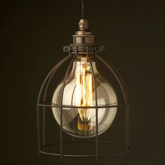 Large Black Light bulb plated cage fitting