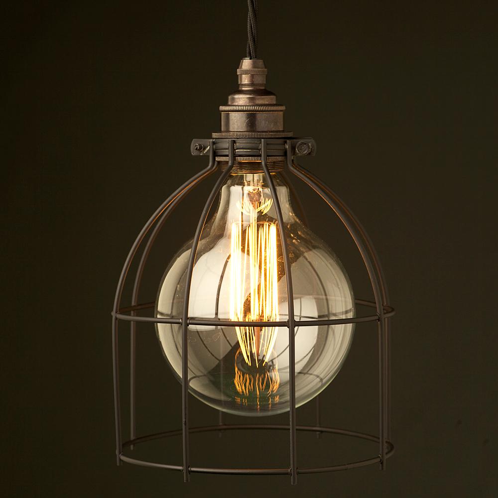 Giant Light Bulb Lamp Black Light Bulb Plated Cage Fitting
