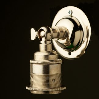 Nickel Knuckle Wall mount Lampholder E27 fitting