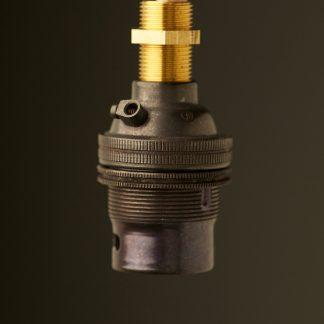 Bronze Threaded Entry Lamp holder Bayonet B22