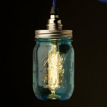 Blue-Preserving-Jar-Nickel-E14-240V-pendant-light