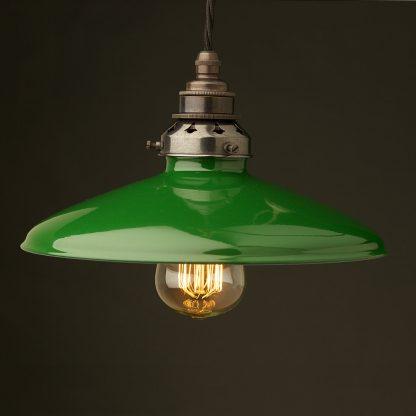 Green Enamel Coolie E27 Pendant