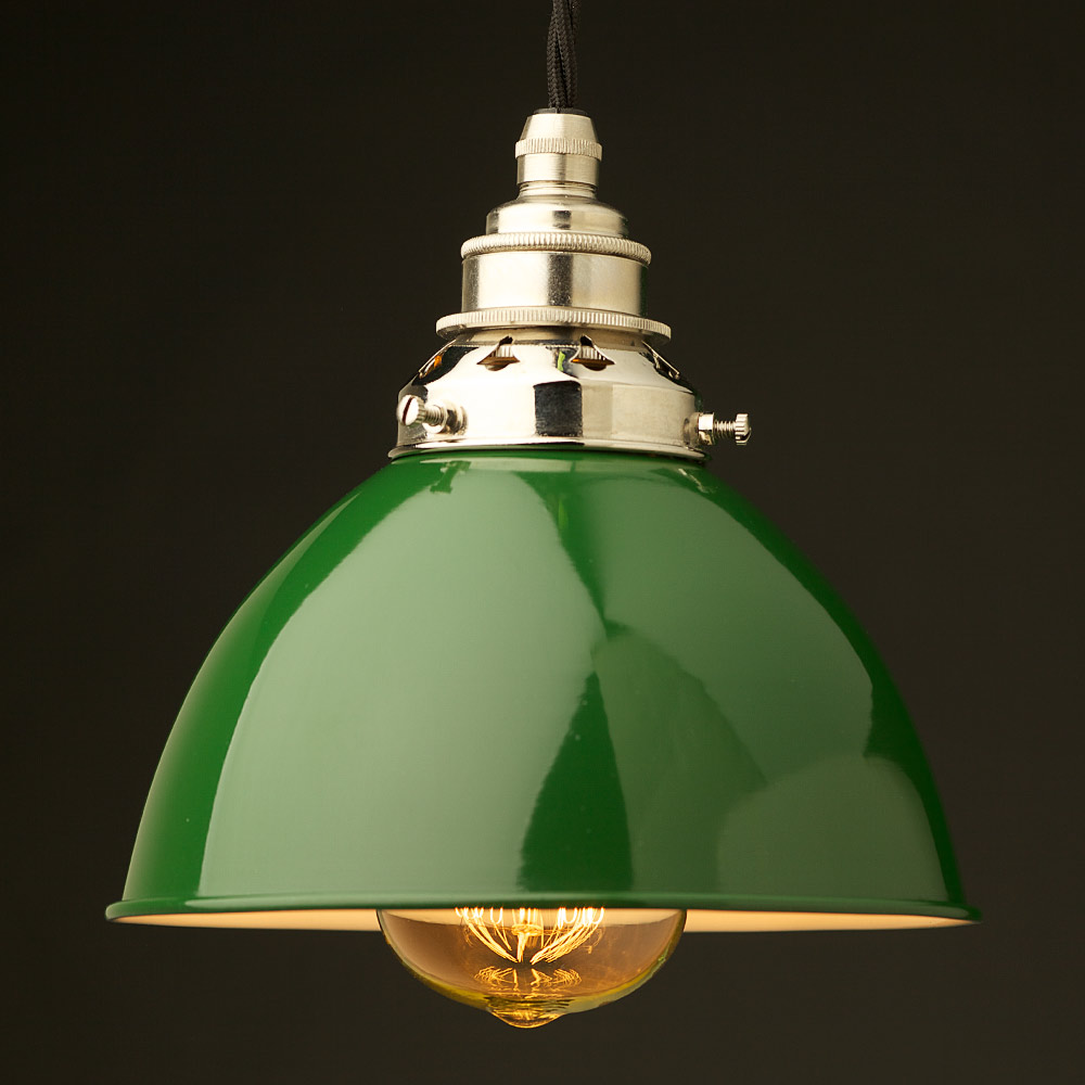 Green Enamel Wall Lights : Green Enamel Dome E27 Pendant