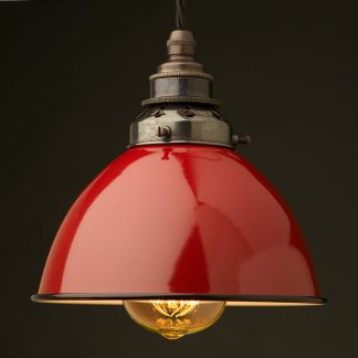 Red Enamel Dome E27 Pendant