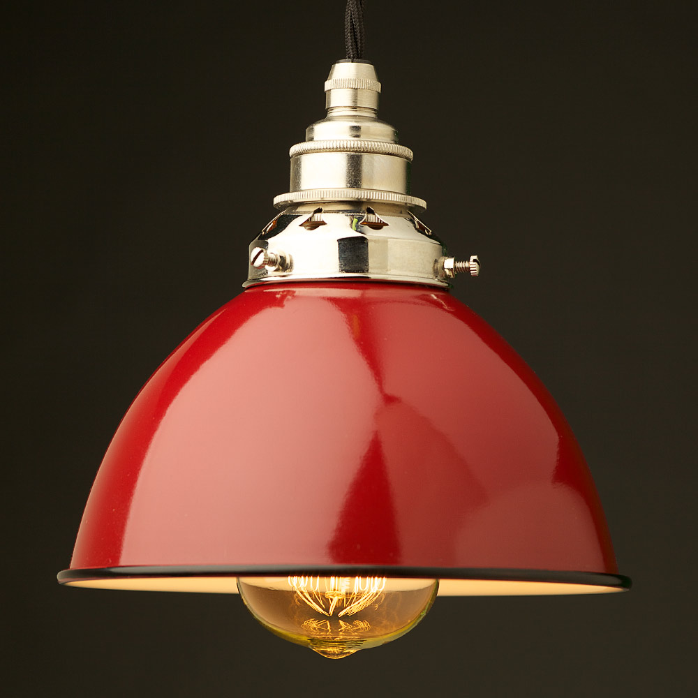 Red Metal Pendant Ceiling Light Image Is Loading Concord