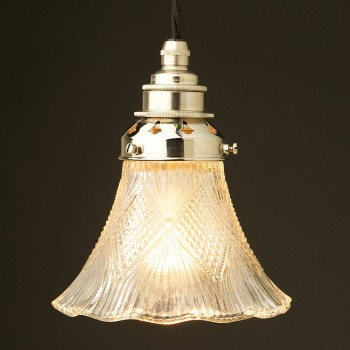 Victorian glass light shade and pendant