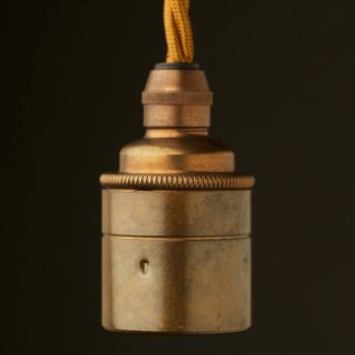 Brass Pendant Lampholder Edison E27 smooth fitting