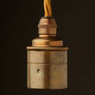 Antique Brass Pendant Lamp holder Edison E27 smooth fitting