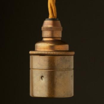 smooth-brass-E27-lampholder