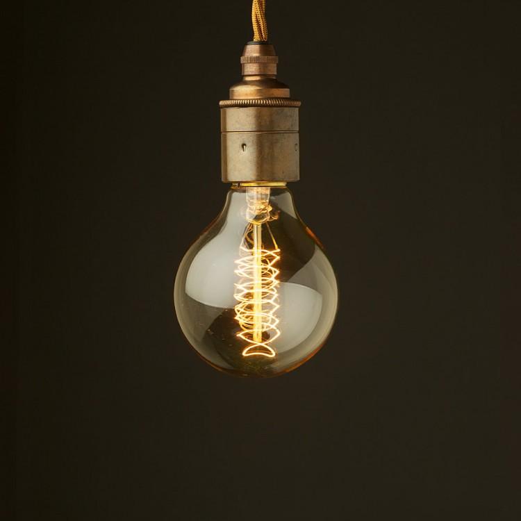 Edison style light bulb E27 Smooth Brass fitting