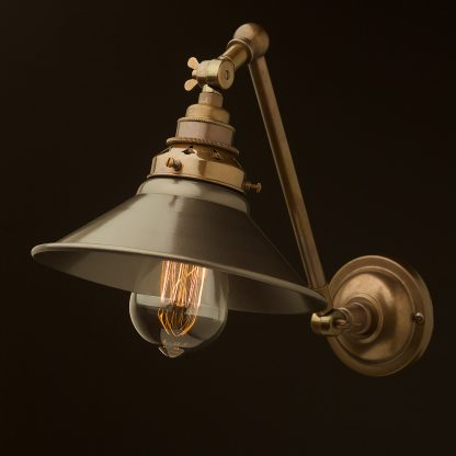 Brass Adjustable Arm wall mount shade