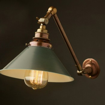 Brass-Adjustable-Arm-wall-mount-E27-green-coolie