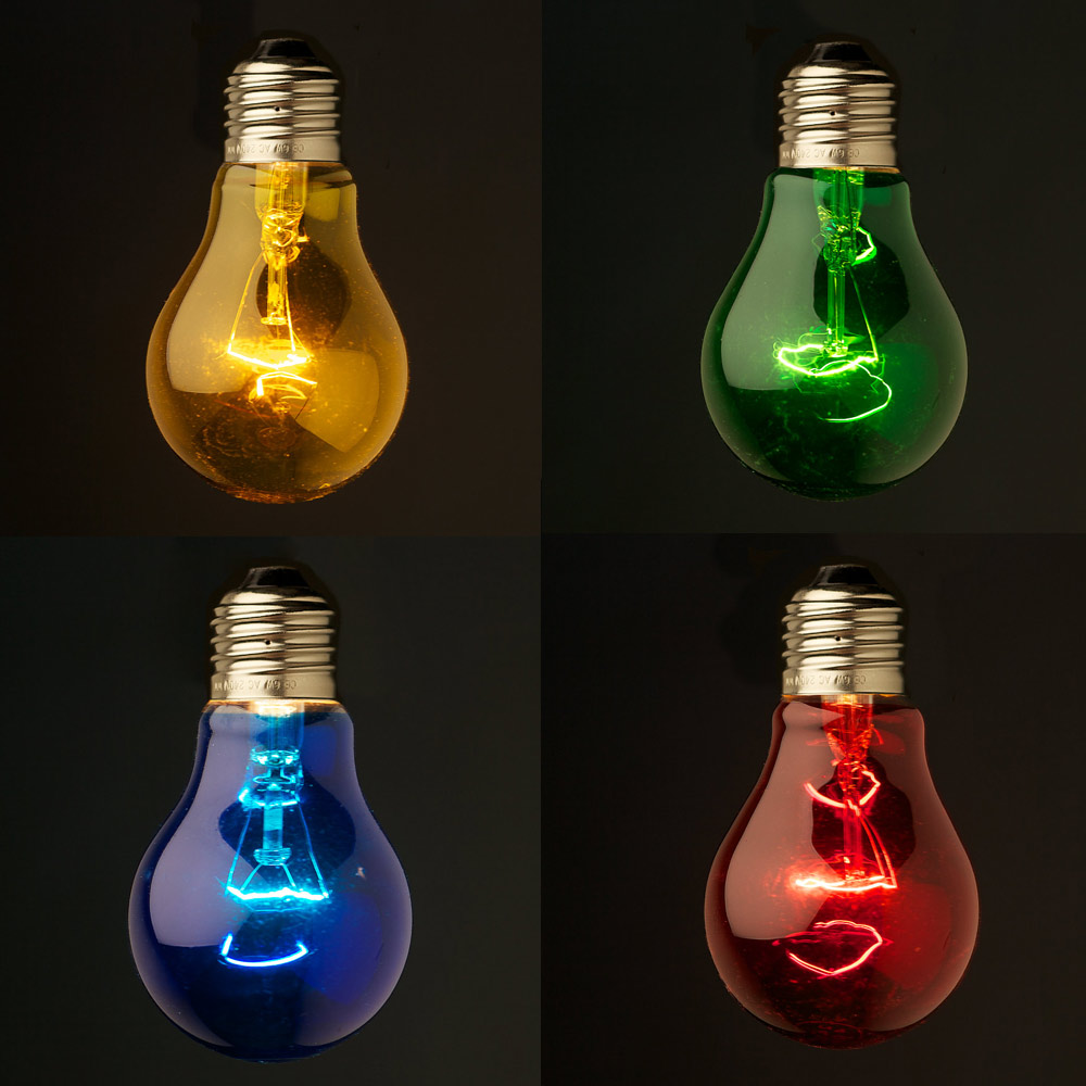 Transparent round colored festoon bulb e27 The light bulb store